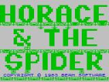 Horace & The Spiders ZX Spectrum Title screen.  Falsely suggesting that Horace will encounter only one spider.