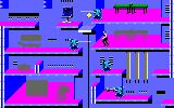 Impossible Mission II Amstrad CPC Areas already searched will turn grey
