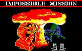 Impossible Mission Amstrad CPC Title screen