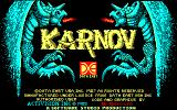 Karnov Amstrad CPC Title screen