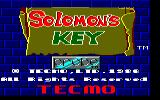 Solomon's Key Amstrad CPC Title screen