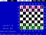 Chess ZX Spectrum This is the initial - and only - view in the game.