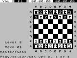 Chess ZX Spectrum Player can change the colour scheme.
