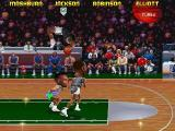 NBA Jam Tournament Edition DOS Sean Elliot makes a salto slam