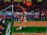 NBA Jam Tournament Edition DOS Pippen for a jam that's worth 8 points
