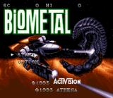 BioMetal SNES Title screen.