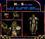 Doom Troopers: Mutant Chronicles SNES Selecting a shooter.