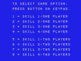 Donkey Kong ColecoVision Game options