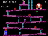 Donkey Kong ColecoVision Making your way up the platforms on the first level