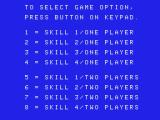 Pepper II ColecoVision Game options