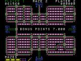 Pepper II ColecoVision Bonus! This section of maze complete!
