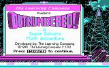 Super Solvers: OutNumbered! DOS Title screen (CGA)