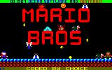 Mario Bros. Amstrad CPC Title screen 1