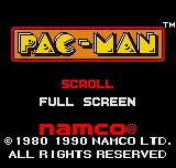 Pac-Man Neo Geo Pocket Color Title screen / Main menu