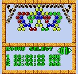 Bust-A-Move Neo Geo Pocket Color Choosing the initial round (Puzzle Mode).