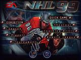 NHL 99 Windows Main Menu