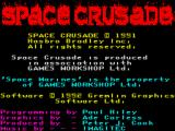 Space Crusade ZX Spectrum Credits screen