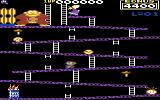 Donkey Kong Commodore 64 Climbing up the first level (US Version)