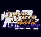 Dave Mirra Freestyle BMX Game Boy Color Title Screen