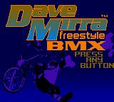 Dave Mirra Freestyle BMX Game Boy Color Start Screen
