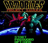 Armorines: Project S.W.A.R.M. Game Boy Color Title screen