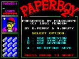 Paperboy 2 ZX Spectrum Control selection