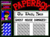 Paperboy 2 ZX Spectrum Read about the things that happen throughout the world