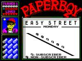 Paperboy 2 ZX Spectrum Don't throw papers at everyone