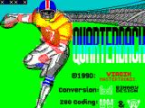 John Elway's Quarterback ZX Spectrum Loading screen