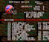 Tecmo Super Bowl SNES Team statistics