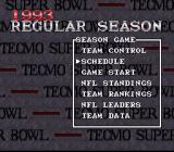 Tecmo Super Bowl SNES Regular season options