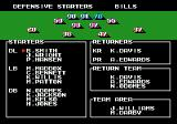 Tecmo Super Bowl Genesis Changing players