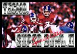 Tecmo Super Bowl II: Special Edition Genesis Title screen