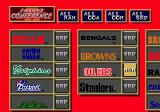 Tecmo Super Bowl II: Special Edition Genesis Choosing your team