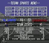 Tecmo Super Bowl II: Special Edition Genesis Post-game information