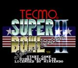 Tecmo Super Bowl II: Special Edition SNES Title screen