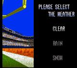 Tecmo Super Bowl II: Special Edition SNES Weather select