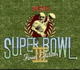 Tecmo Super Bowl III: Final Edition SNES Title screen