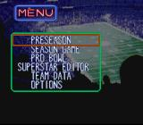 Tecmo Super Bowl III: Final Edition SNES Main menu