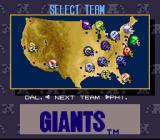 Tecmo Super Bowl III: Final Edition SNES Selecting a team