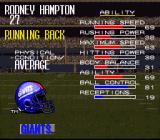 Tecmo Super Bowl III: Final Edition SNES Player data