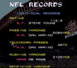 Tecmo Super Bowl III: Final Edition SNES NFL records
