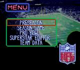 Tecmo Super Bowl III: Final Edition Genesis Main menu