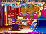 Kabuki Klash Neo Geo Orochimaru's TatsuyariRengeki and its bloody hits in Yagumo.