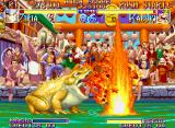 Kabuki Klash Neo Geo A giant frog spits out lots of flames in Ziria's special move KamiHono.