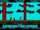 The Legend of Kage ZX Spectrum Shooting those 2 down