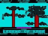 The Legend of Kage ZX Spectrum Level completed