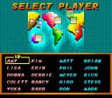 Super Tennis SNES Selecting your player