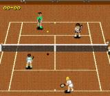 Super Tennis SNES Doubles match