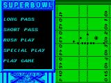 Super Bowl ZX Spectrum Choose an offensive play